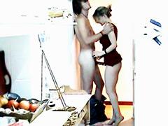 Adriana Davidova posing naked