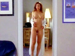 Nude Alex Kingston undresses and hows..