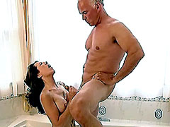 Nude Amy Fisher jerks and sucks dick on bath