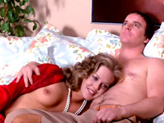 Ann Dusenberry naked laying witn guy on bed after hard sex