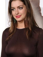 Celebrity Anne Hathaway showing nice tits