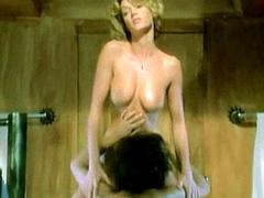 Brigitte Lahaie exposes her nude body..