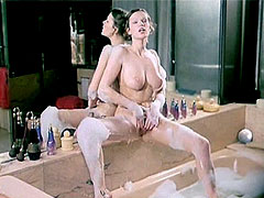 Naked Brigitte Lahaie fingering hairy..
