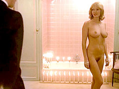 Naked Brigitte Lahaie with guy in bath