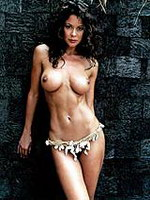 Brooke Burke posing for this gold..