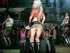 Christina Aguilera spreads legs and..