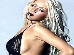 Celebrity singer Christina Aguilera..