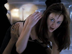 Alexis Bledel hot in black bra showing..