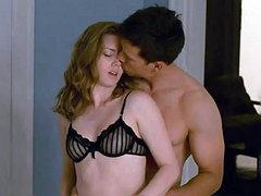 Amy Adams in a see-through black bra..