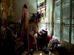 Belen Fabra naked underneath a guy in..