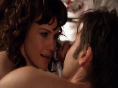 Carla Gugino naked lying on her..