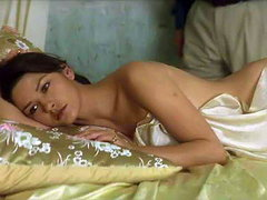 Catherine Zeta-Jones nude but covered..