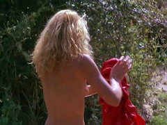 Ellen Barkin naked lying beside a..