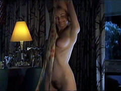 Heather Graham's great body on display in a full-frontal nude scene as she takes off her dress,..