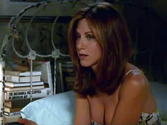 Jennifer Aniston hot showing a lot of cleavage in various scenes from Picture Perfect.