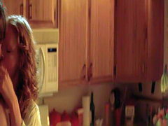 Jessica Chastain naked in a kitchen..