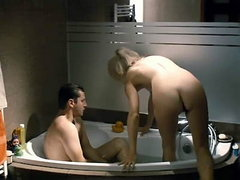 Joanna Pierzak naked seen from behind showing us her bare booty as she getting in the bathtub with..