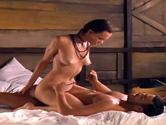 Julia Lemmertz showing full-frontal nudity atop a guy as they have sex and the guy reaches up to..