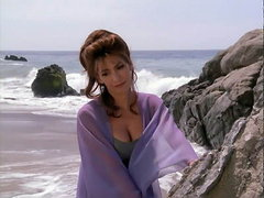Marina Sirtis sexy on the beach..