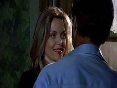 Michelle Pfeiffer having a guy pull up her nightie to kiss her stomach before the nightie gets..