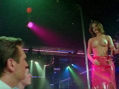 Baywatch star Nicole Eggert dancing..
