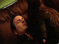 Rhona Mitra in hot threesome scene,..