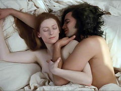 Tilda Swinton naked making out with..