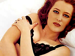 Sweet Gillian Anderson having fun with..