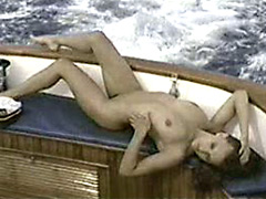 gorgeous Cady Cantrell posing naked on the yacht