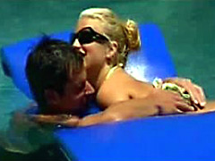 American Pop Singer Jessica Simpson In Love Action
