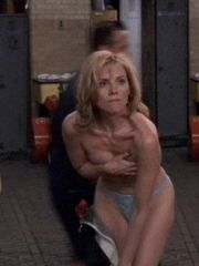 Lovely Kim Cattrall showing her juicy..