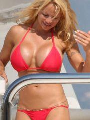 Pamela Anderson paparazzi bikini beach..