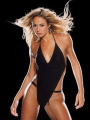 hot actress Stacy Keibler shows her hot..