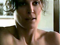 Adorable actress Erin Daniels in hot lesbian scene