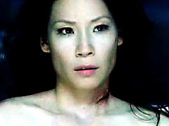 Adorable actress Lucy Liu having a hot lesbian sex