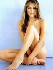 lovely actress Elizabeth Hurley posing..