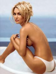Kelly Carlson posing topless and nude..