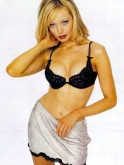 sweet actress Kimberly Davies posing in..
