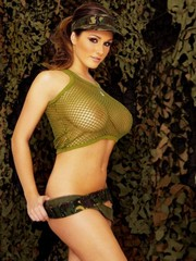 Topless Lucy Pinder showing her big..