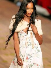 Low-spirited Naomi Campbell shows their..
