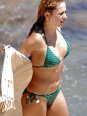 Mexican singer Paulina Rubio paparazi..