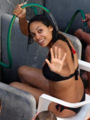Pretty Rosario Dawson shows her boobs..