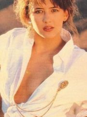 attractive actress Sophie Marceau shows..
