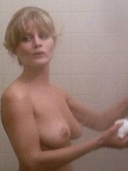 Beverly D Angelo shows her nude circle..
