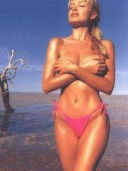 foxy Dannii Minogue posing in lingerie..