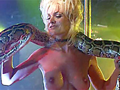 Topless Barbara Alyn Woods dancing in..