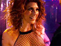 Pleasing Marisa Tomei giving a topless lap dance