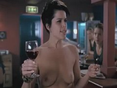 Neve Campbell All Naked In A Restaurant