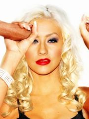 Christina Aguilera blows and rides hard..
