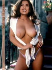 Hot latina celebrity Salma Hayek naked..